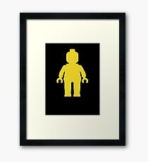 Minifig [Yellow]  Framed Print