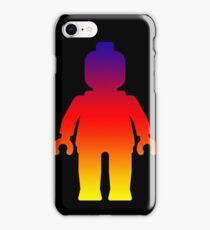 Minifig [Large Rainbow 2]  iPhone Case/Skin
