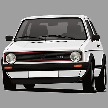 Golf GTI MK1 hot hatch cornering - white by knappidesign