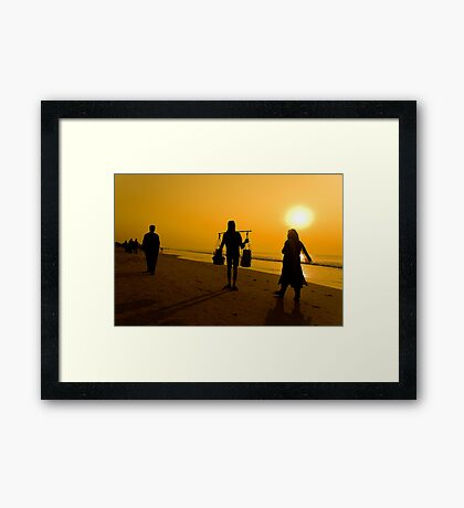 Sunrise at Puri Sea Beach-2 Framed Print