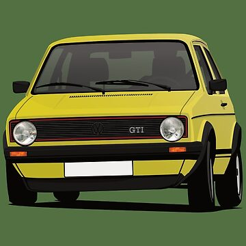 Golf GTI Mk1 cornering - yellow by knappidesign