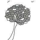 « Fleur noir et blanc » par VataYellowSeed