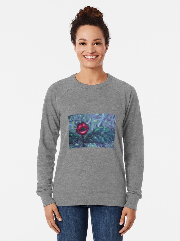 Alternate view of Floral Hellscape IV Lightweight Sweatshirt