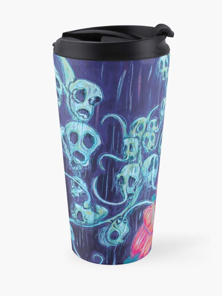 Alternate view of Floral Hellscape I Travel Mug