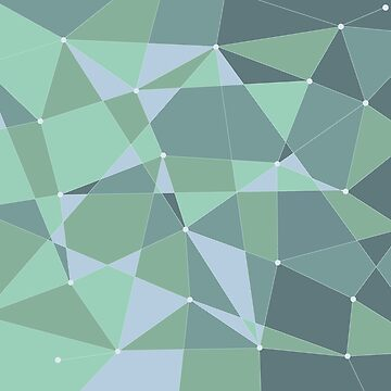 Abstract random geometric pattern green by Russell102