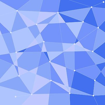Abstract random geometric pattern blue by Russell102