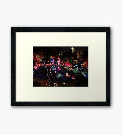 Night in the Sunken Garden(2) Framed Print