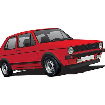 VDUB GTI MK1 GTI - red by knappidesign
