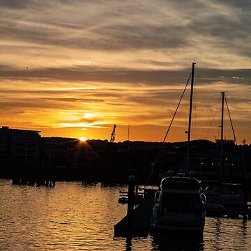 Sunset At Cardiff Bay by widdy170
