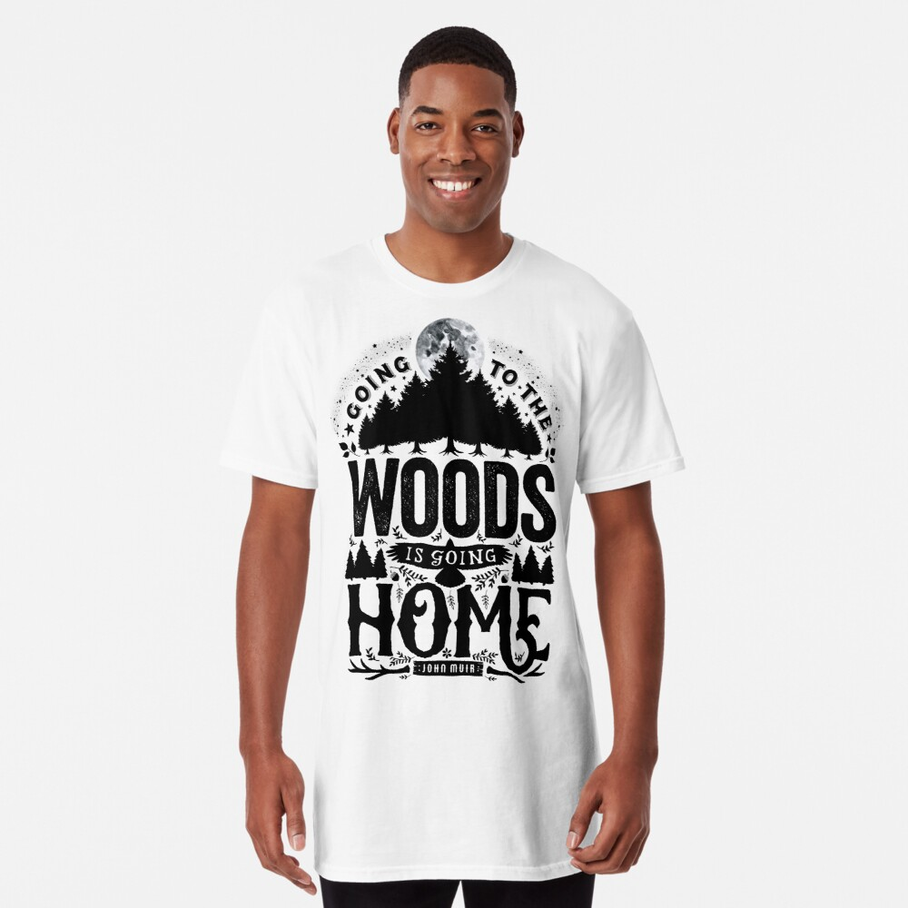 Camiseta largaEl bosque Delante