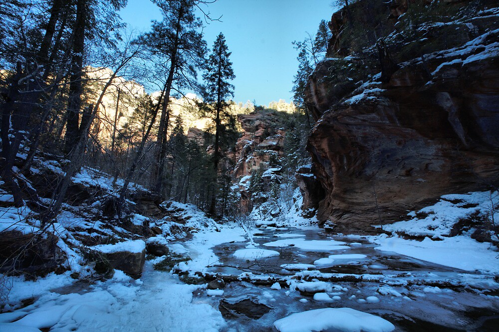 frozen canyon by jbiller