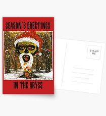 Weihnachtsgrüße - Parodie-Weihnachtskarte Postkarten