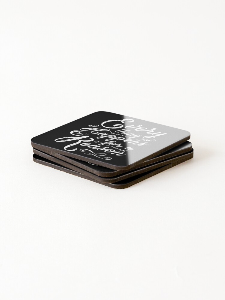 Alternate view of Everything Happens for a Reason Coasters (Set of 4)
