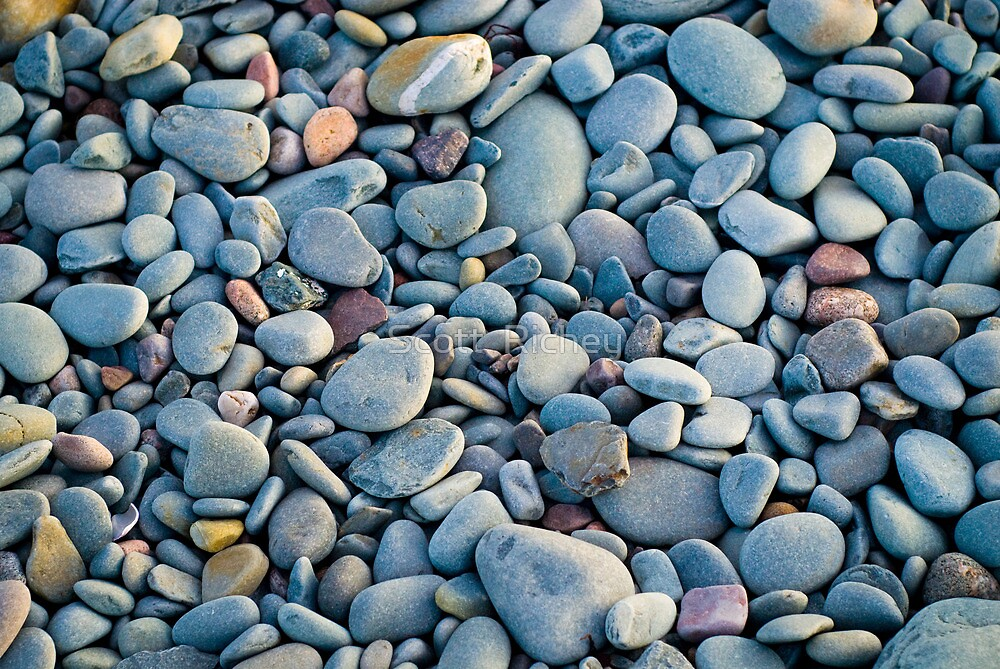 The Stones, Now Free of The Ocean's Torment, Gathered  For A Collective Sigh of Relief  by Scott  Richey