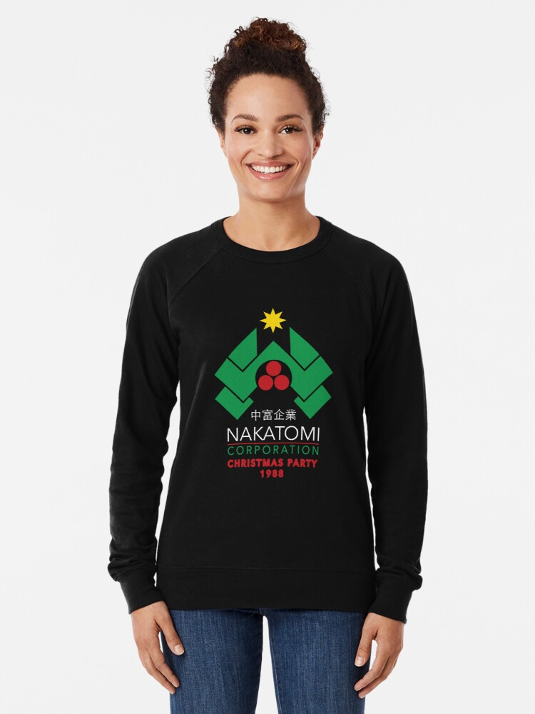 Alternate view of Nakatomi Corporation - Christmas Party Lightweight Sweatshirt