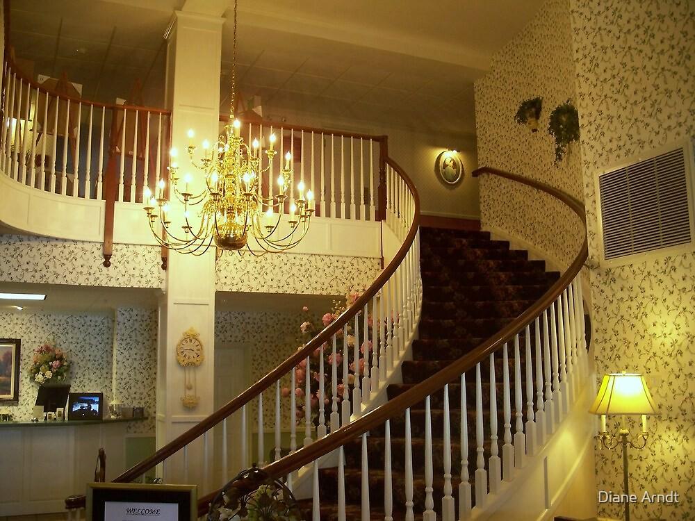 Ashley Inn Staircase.#2 by Diane Arndt