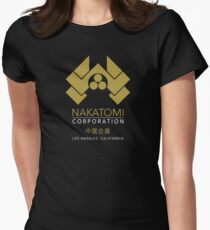 Nakatomi Gold Los Angeles California Women's Fitted T-Shirt