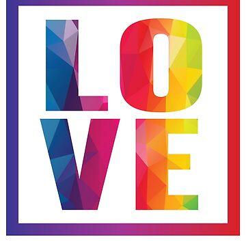 Love the love rainbow by tarek25