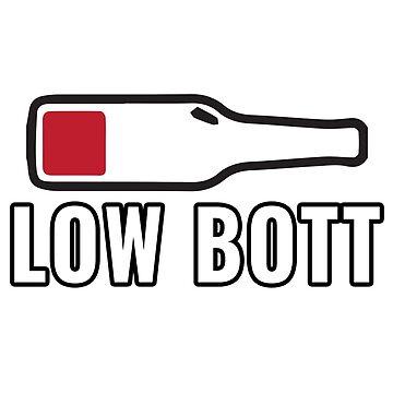 Low Bott Bottle of Red Wine Half Empty Wine Lover by tarek25