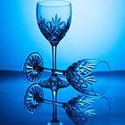 Glasses In Blue by Lynne Morris