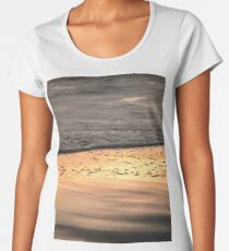Pretty Pink and Orange Pacific Ocean Sea Waves Sunset V Women's Premium T-Shirt