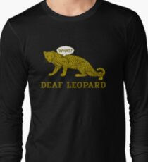 Deaf Leopard Band Pun Long Sleeve T-Shirt