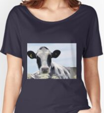 Cow in the meadow....Dorset UK Women's Relaxed Fit T-Shirt
