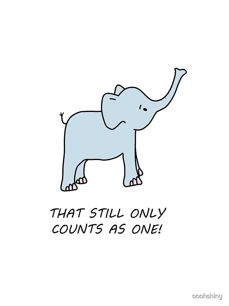 niedlicher LOTR inspirierter Elefant von ooohshiny