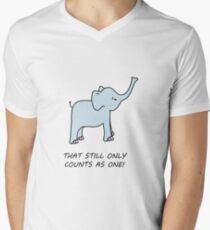 cute LOTR inspired elephant Men's V-Neck T-Shirt