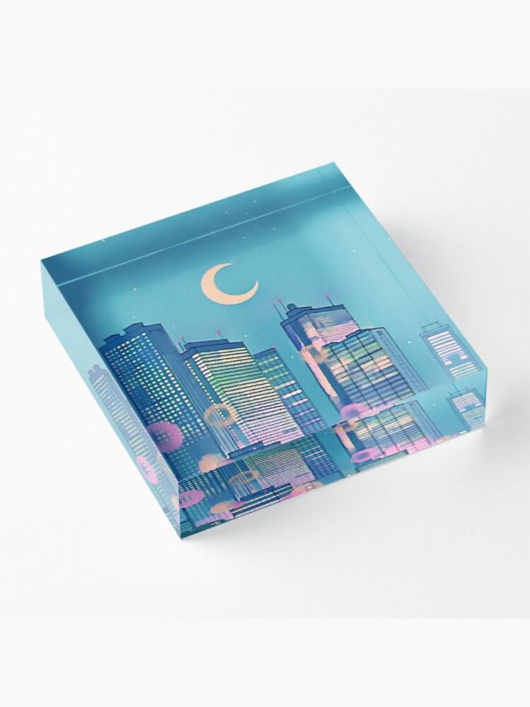 Alternate view of Classic Shoujo skies Acrylic Block