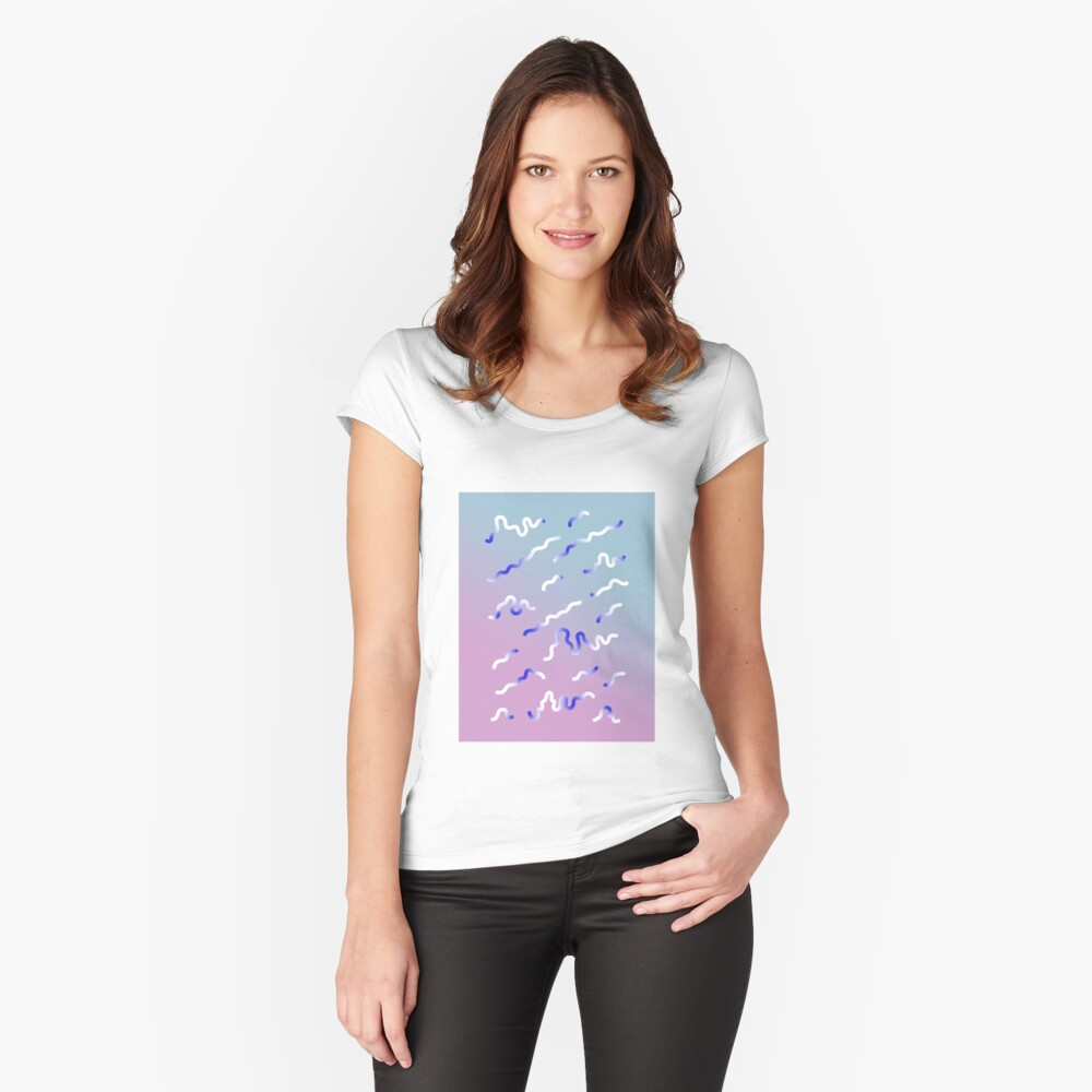 digital abstract Fitted Scoop T-Shirt