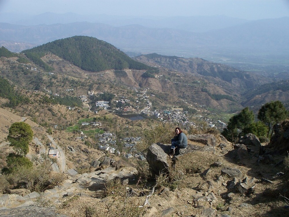Me, Overlooking Tso Pema by Angie Spicer