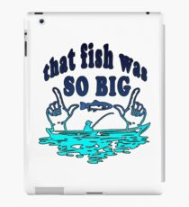 Big fish | Angler fishing license fisherman gift iPad Case/Skin