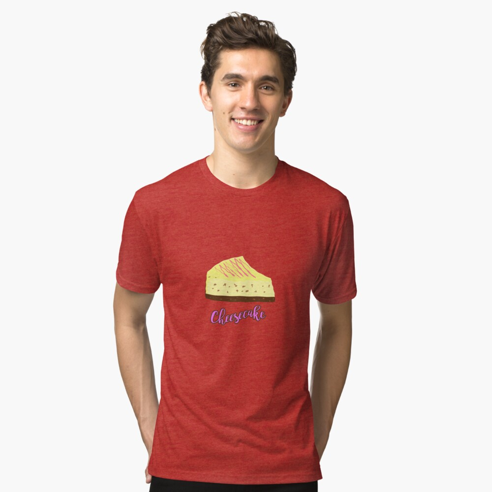 Cheesecake Tri-blend T-Shirt Front
