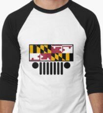 Jeep Wrangler Maryland Flag Men's Baseball ¾ T-Shirt