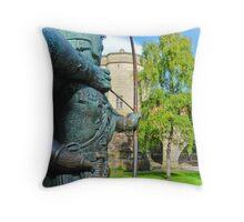 Robin Hood statue Throw Pillow