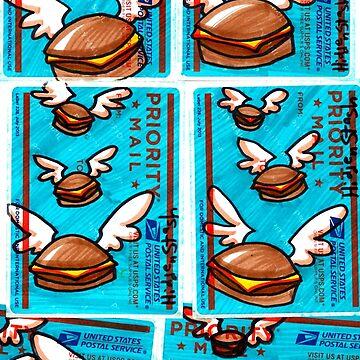 flying cheeseburger 228s by HiddenStash
