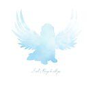 Blue Dog Angel by Christine Mullis