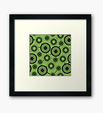 Retro pattern. Industrial background Framed Print