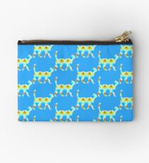 Blue and red spiral cat Studio Pouch