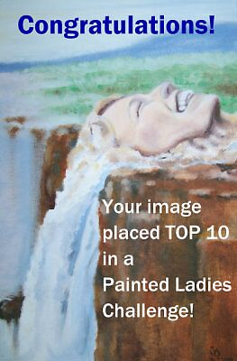 waterfall - painted ladys-badge by Alva