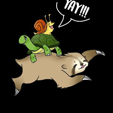 Sloth, Turtle and Snail Piggyback by DBA-Dezines