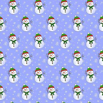 Joyful Winter Snowmen by kathlesa