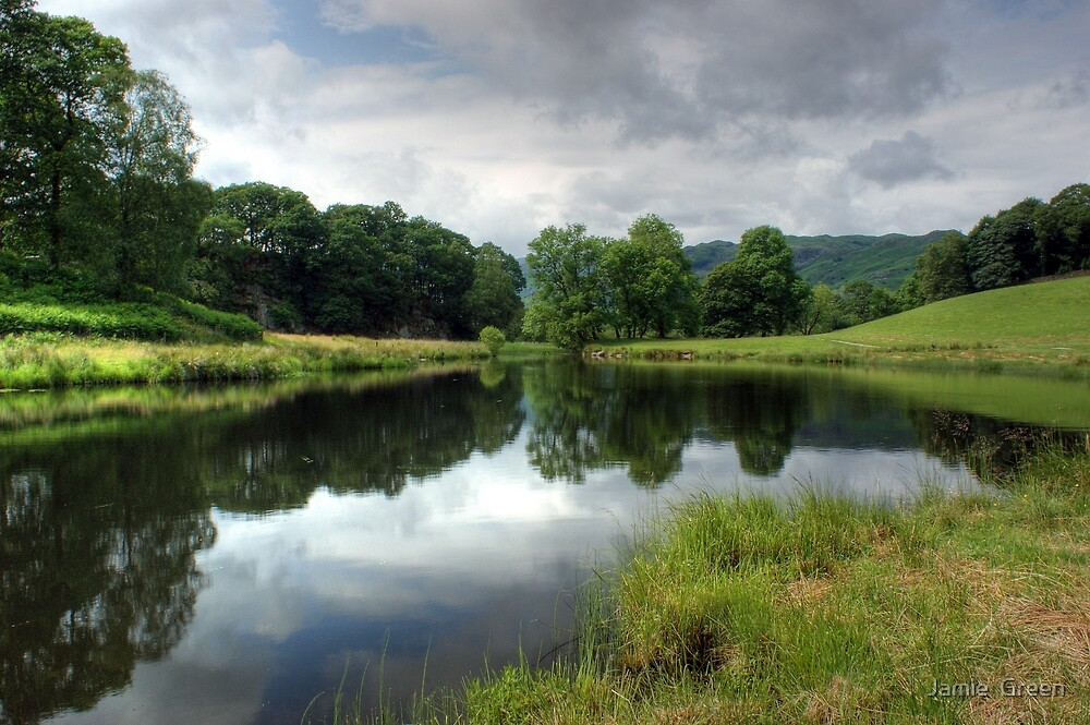 River Brathay in Summer by Jamie  Green