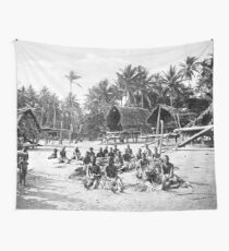 a colourful Papua New Guinea landscape Wall Tapestry
