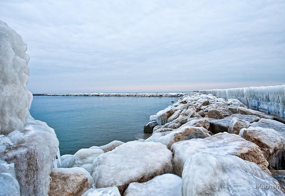 Frozen Lake Michigan Pier by JKunnen