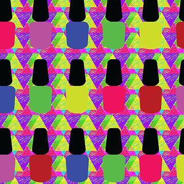 Nail Polish Bottles Manicurist Design by customshirtgirl