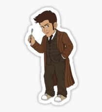 Tenth Doctor (Brown Suit) Sticker