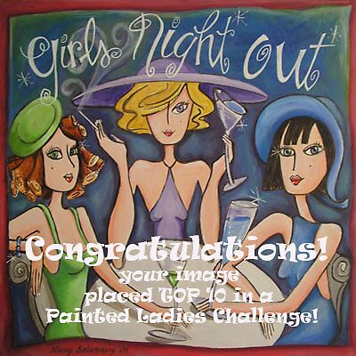 Girls Night Out Banner for Painted Ladies Challenge by nancy salamouny