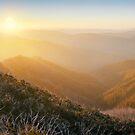 On the Razorback, Mt Hotham, Victoria, Australia by Michael Boniwell